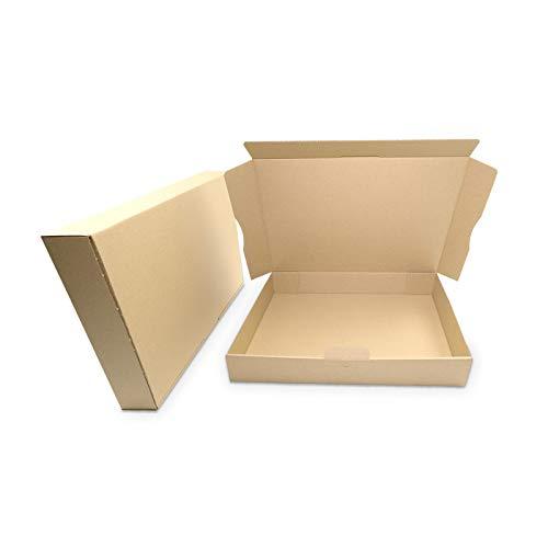 verpacking KartonProfis MB-4 - Cajas de cartón plegables (100 unidades, 320 x 225 x 50 mm), color marrón