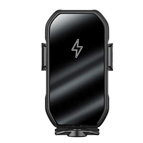 ALLWIN Cargador De Coche Inalámbrico, Soporte De Carga De Ventilación, con Función De Adsorción Automática, Giratorio De 180 °, para Teléfonos Inteligentes iPhone Y Android,Negro