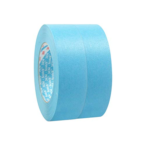 Scotch 3M 3434 Kreppband Blau 36mm x 50m (2 Rollen)