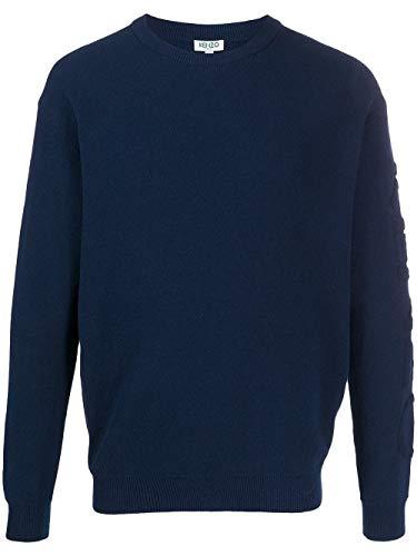 Luxury Fashion | Kenzo Heren FA55PU5183BD77 Donkerblauw Katoen Truien | Lente-zomer 20