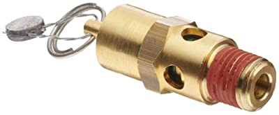 """Control Devices SA Series Brass ASME Safety Valve, 165 psi Set Pressure, 1/4"""" Male NPT from Control Devices"""
