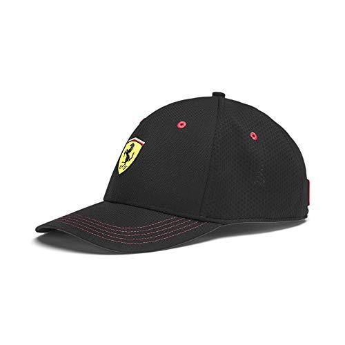 PUMA x Scuderia Ferrari Fanwear Adjustable Strapback Baseball Cap Hat (Black)