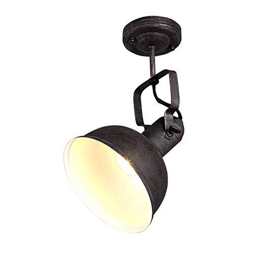 Jiafum Luces de Mesa de Billar Negras rusticas, arana de Sombrero de Metal Industrial para Sala Comedor Mesa de Billar Luces de Isla (1 Cabezas de lampara)