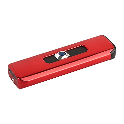 Encendedor de arco, encendedor eléctrico, con USB recargable ideal para vela/estufa de gas/camping para vela de cigarrillos con pantalla LED roja