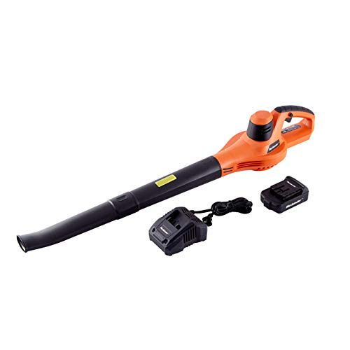 MAXLANDER Cordless Leaf Blower, 20V Battery Powered Blower, Leaf Blower Cordless with 2.0Ah Battery and Fast Charger, Lightweight Rechargeable Sweeping Dust Snow Window Cracks
