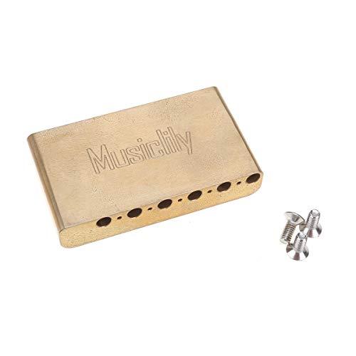Musiclily Ultra 10,5mm Latón 40mm Standard Guitarra Trémolo Block Bloque para Guitarra Eléctrica de Importación