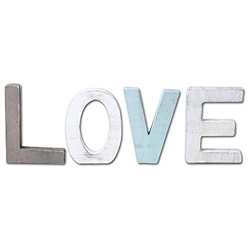 liqinger.earring Carta Amor Productos de decoración del hogar de Madera Adornos