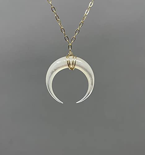 14k Gold Filled Crescent Moon Necklace Sterling Silver Crescent Moon Necklace