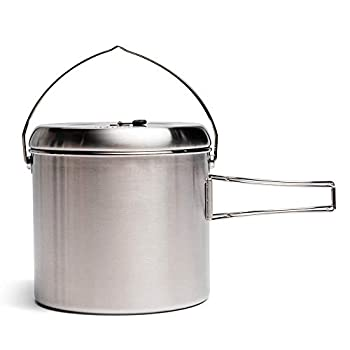 Solo Stove Pot 4000 Stainless Steel Camping Pot for Outdoor Campfire Great Cookware Equipment for Backpacking Kitchen Bushcraft Survival Gear and Cooking