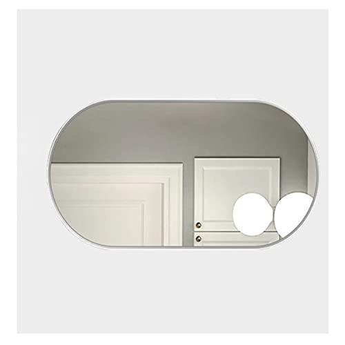 LYLSXY Grande Specchi da Bagno Ovale, Specchi per Vanità Sono Utilizzati in Servizi Igienici, Servizi Igienici, Tavoli per Medici (Color : White, Size : 90x70cm)