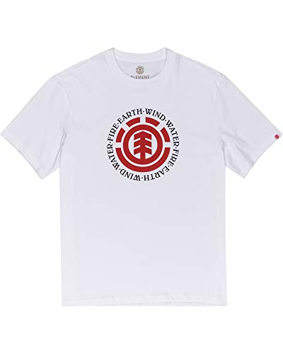 Element Seal SS T-Shirts, Chemises et Polos Homme, Optic White, FR : M (Taille Fabricant : M)