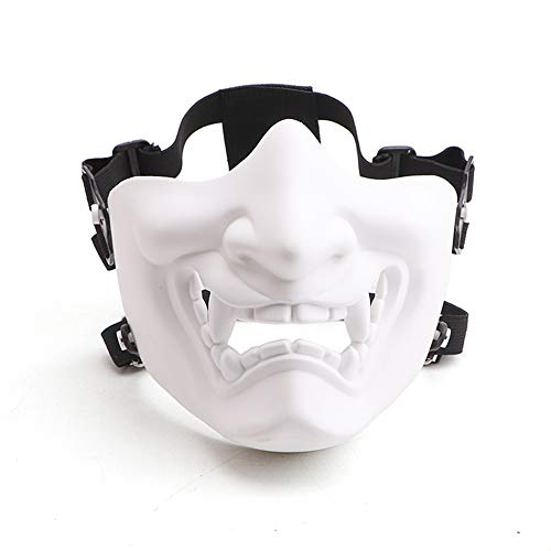 Velity Airsoft Maske Halbmaske Taktisch Maske Totenkopf Prajna Maske, fur Softair, Halloween, Paintball, CS, Partyspiel, Karneval, Fasching Kostüm (Weiß)