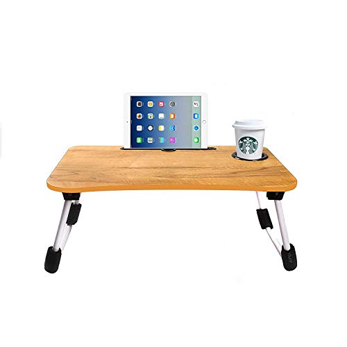 KIYAN STORE Standing Desk Sit to Stand Wide Tabletop Workstation Laptop Table. (Wooden)
