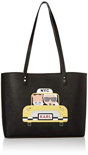 Karl Lagerfeld Paris Damen Maybelle Tote Tragetasche, Taxi Gelb, Einheitsgröße