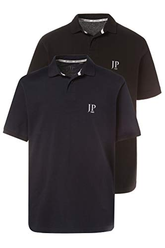 JP 1880 Herren große Größen bis 7XL, Poloshirts, 2er-Pack, Piqué, Seitenschlitze, Regular Fit, Navy, schwarz XL 704317 10-XL