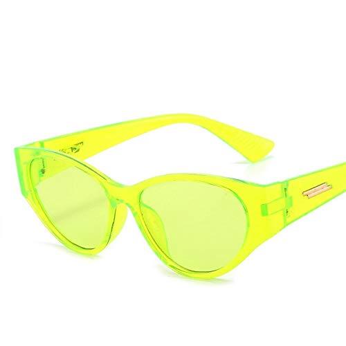 NJJX Gafas De Sol De Ojo De Gato Únicas Para Mujer, Diseñador De Marca Vintage, Gafas De Sol De Ojo De Gato, Montura Pequeña, Gafas De Pesca Al Aire Libre Retro, Uv400, Transparente Para Mujer, Verde