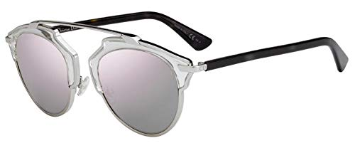 Dior Christian DiorSoReal gafas de sol w/Rose gris lente de espejo de oro de 48 mm GKZ0J DiorSoReals DiorSoReal/s So Real mujer Crystal Palladium Habana Grande
