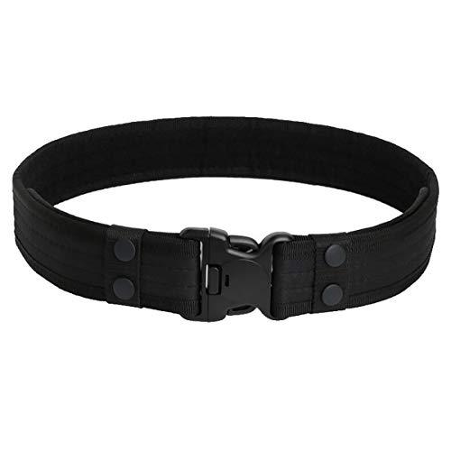 LKXHarleya Herren Tactical Belt, Sport Heavy Duty Belt, 2 Zoll Canvas Belt Military Belt mit Quick Release Buckle, Tactical Waist Belt für Outdoor, schwarz