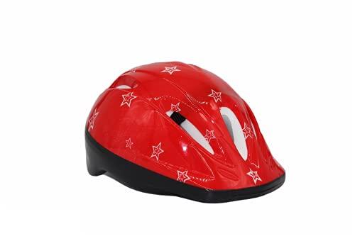 Casco Bici per Bambini Caschi Perfetto per enduro Downhill Ciclismo MTB Scooter Helmet ottimo per Tutte Le attività in Bicicletta taglia 50-55 (rosso)