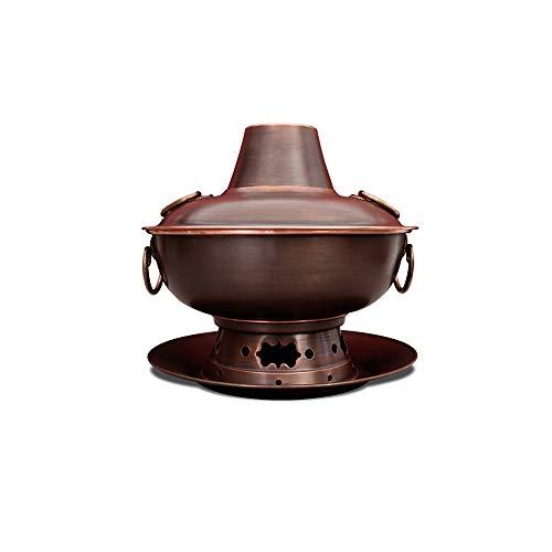 GYZLZZB Chinois Ancien Charbon Beijing Charcoal Charbon Charcoal, Cuivre Plein Cuivre Mongol Hot Pot, Structure fractionnée créative, Facile à stocker et propre, propice au dîner de famille Pique-niqu
