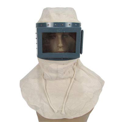 Wanson Flacher Rahmen Sandstrahlkappe Staubdichte Mütze Anti-Splash-Schalkappe Atmungsaktive Leinwand Schleifen Staubschutz Kopfhaube