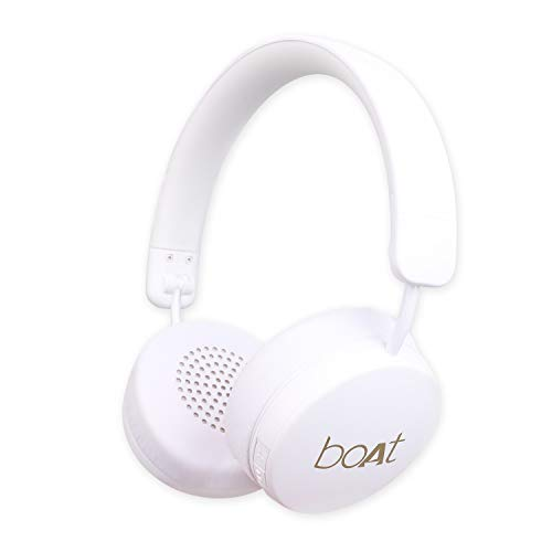 boAt Rockerz 440 Wireless Bluetooth Headset with in-Built Mic(White)