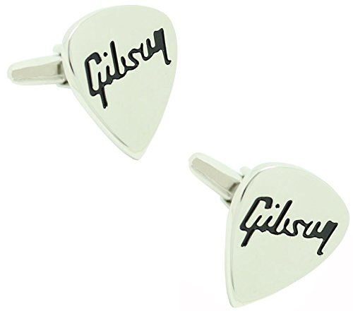 masgemelos Manschettenknöpfe Plektrum Gitarre Gibson Cufflinks