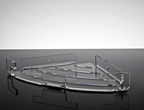 Eckregal zur Wandmontage mit modernem Design aus transparentem Plexiglas (32 × 23 cm)