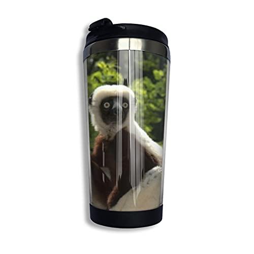Zoboomafoo Lemur ZobooCoffeeCupwithLidforTeaCoffeePortableStainlessSteel400Ml