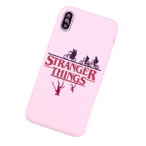 """APHT Stranger Things Phone Case Cover per iPhone 5-11 PRO Max con Scritta in Lingua Inglese """"Stranger Things """"su Sfondo AntiGraffio Antiurto Case Custodia Sicura"""