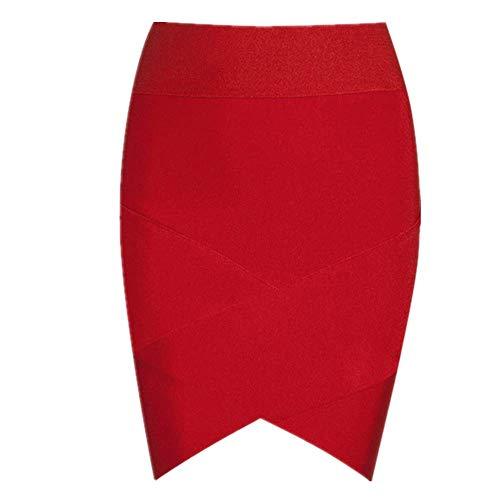 N\P Mini falda de vendaje para mujer fiesta lápiz faldas elástico rayón sexy delgado apretado