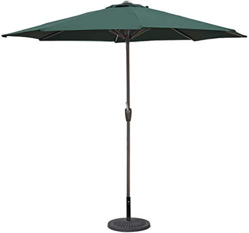 MISS KANG Paraguas para exteriores de 2,7 m, paraguas de mesa para jardín, piscina, terraza, mercado, paraguas (color: verde, tamaño: 270 cm)
