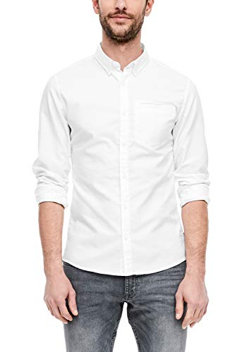 Q/S designed by Herren Extra Slim: Hemd in Unicolor White M