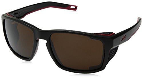 Julbo Shield Sonnenbrille Unisex Erwachsene, Unisex, Sonnenbrille, J5066114, Schwarz / Rot / Rot, one size