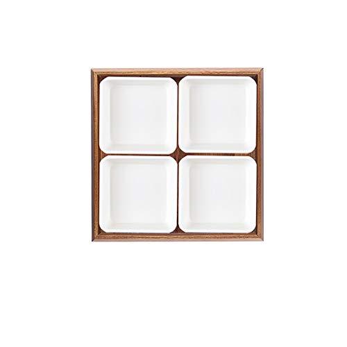 BANGSUN 1 unid cerámica seca fruta caja estilo europeo Snack Box tuerca placa con tapa caramelo caja de almacenamiento comida decoración placa