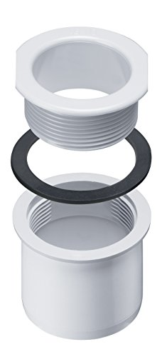 INEFA Schraubstutzen Rinne zu Fallrohr, kastenförmig, Weiß DN 50 / NW 68