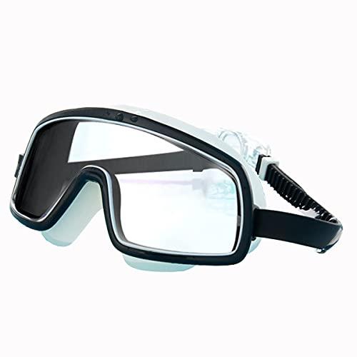Gafas De Natación De Marco Grande Femenino Adulto Impermeable Y Anti-Niebla HD HD Professional Racing Hombre Natación Gafas De Buceo Profesional Y Cómodo,Negro