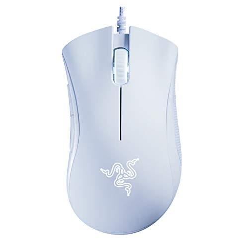 Mouse Gamer Razer Deathadder Essential: 6400 DPI - Sensor Óptico - 5 Botões Programáveis (Branco Mercúrio)