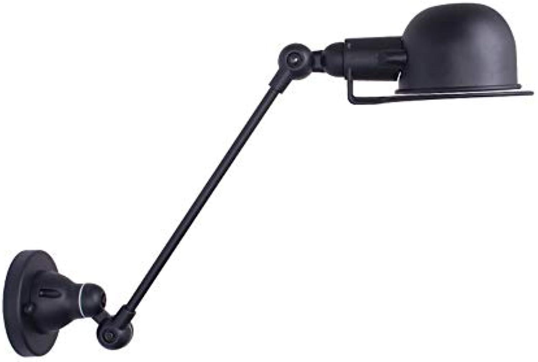 Einfache faltbare wandleuchte led langen arm einstellbar schlafzimmer studie nachttischlampe teleskop wandleuchte leselampe (Größe   B)