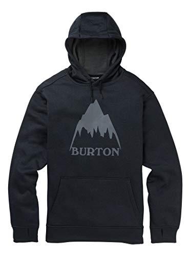 Burton Oak, Felpa con Cappuccio Uomo, Mountain True Black Heather, S