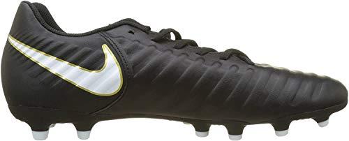 Nike Herren Tiempo Rio IV FG 897759 Fußballschuhe, Schwarz (Black/White/Black 002), 43 EU