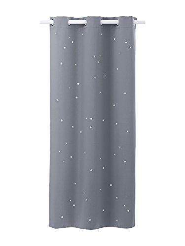 Vertbaudet Verdunkelungsvorhang mit ausgestanzten Sternen grau 105X180
