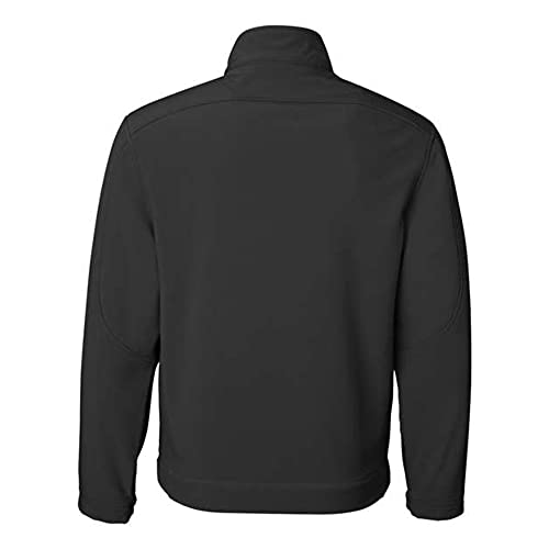Weatherproof Men's Midweight Water and Wind Resistant Soft Shell Jacket (S-3XL) (Black, L)
