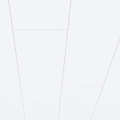 Avanti MDF Paneele Dekor Superweiß glänzend als Wandpaneel oder Deckenpaneel 1300 x 203 x 10 mm 1,58 m² feuchtraumgeeignet Schnellmontage
