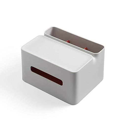 Estante de almacenamiento de caja pañuelos con 3 compartimentos Estante caja pañuelos, caja almacenamiento servilletero papelería con control remoto multifuncional, baño, encimera, escritorio, oficina