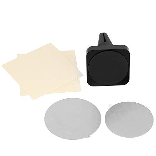 KUIDAMOS Soporte de Montaje para teléfono de aleación de Aluminio, Soporte para GPS de ventilación de Aire, para Mini tabletas para navegadores GPS(Black)