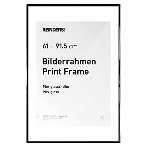 Bilderrahmen Bilderrahmen Poster Schwarz Kunststoff maxi 61x91,5cm - Bilderrahmen Kunststoff 62 x 93 cm Schwarz Wohnzimmer Kunst