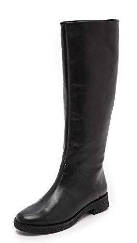 Diane von Furstenberg Women's Ainsley Flat Boots, Black, 6 B(M) US
