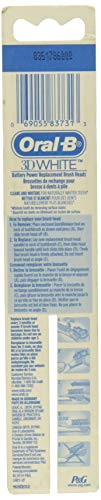 Oral-B 3D White Battery Power Toothbrush Replacement Heads, 2 Count