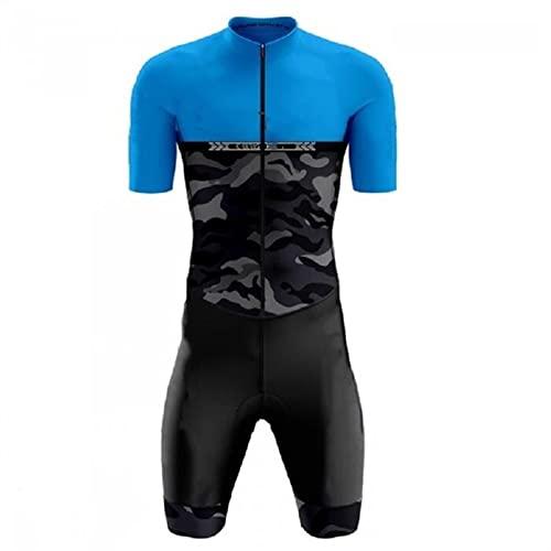 Triathlon Abiti da uomo - TRI ABITI for UOMINI CON MANICHE - TRISUIT TRIATHLON UOMO- Kit da uomo TRI - Skinsuit (Color : C, Size : Large)